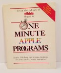 One Minute Apple Programs by Editors of Nibble Magazine