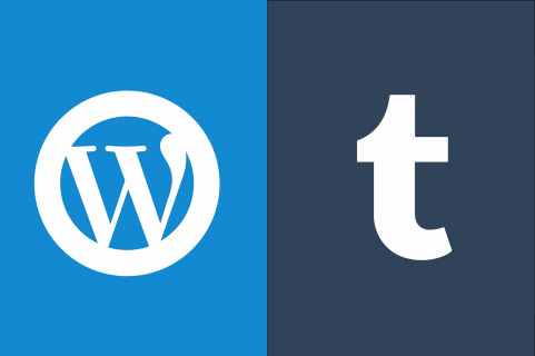 Wordpress and Tumblr Logos