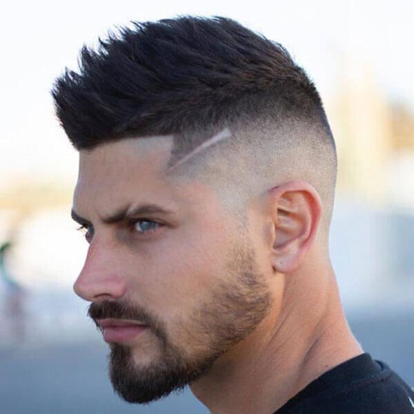 Faux Hawk Fade Haircut