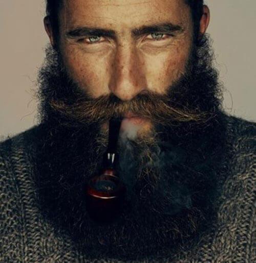 Long Mustache and Beard Style
