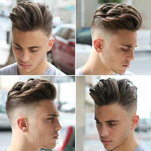 Textured Quiff + High Bald Fade