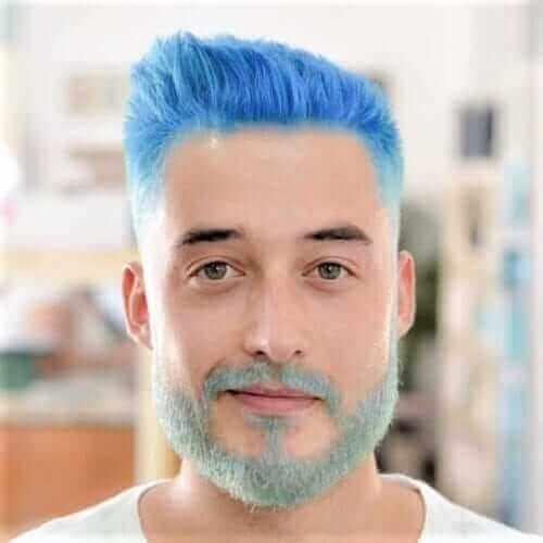 19. Light Blue Hair Color for Men