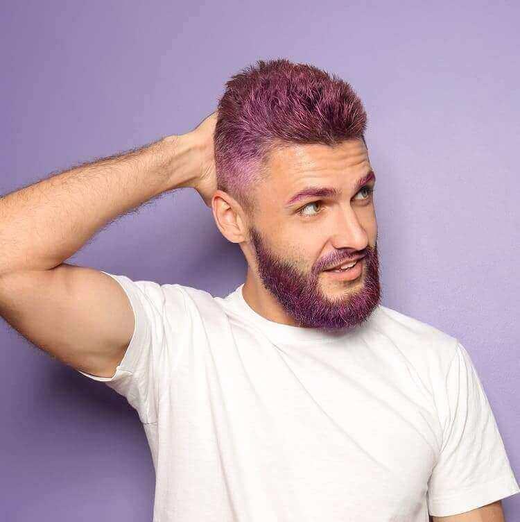 Purple Hair Color For Men-10