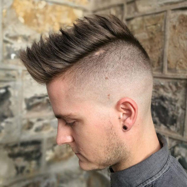 Faux Hawk + Shaved Sides
