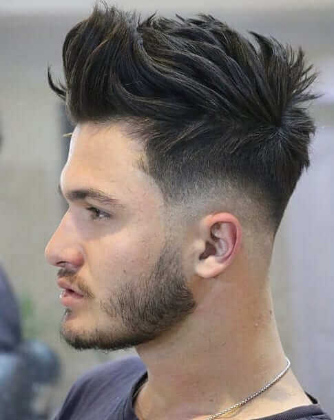 Low Fade with Brush Up Top