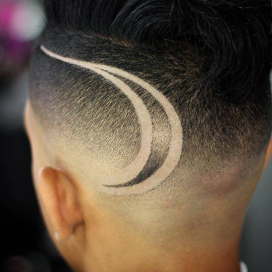 Fade Haircut With Design