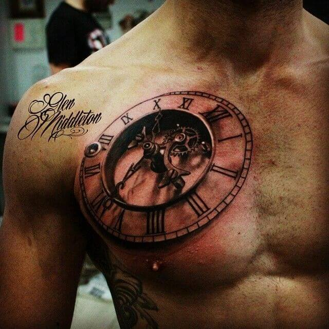 Men Chest Tattoo -15