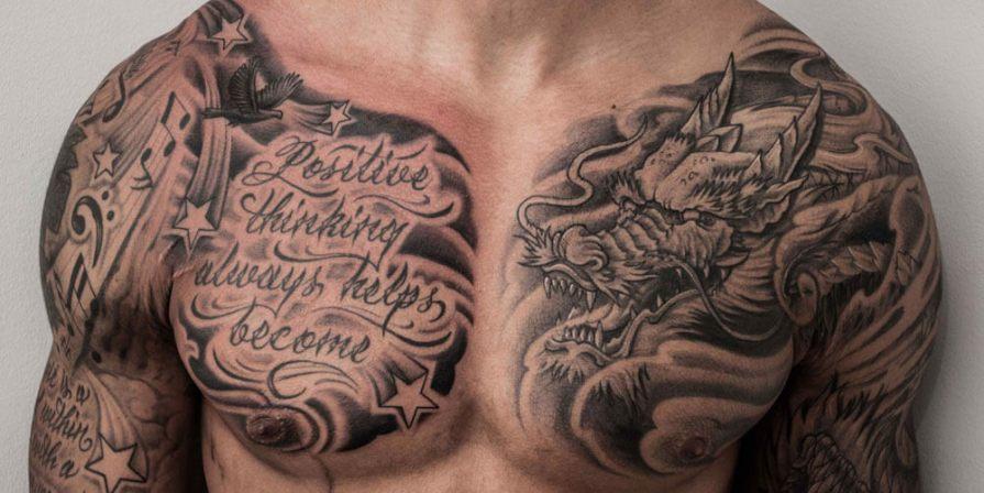 best chest tattoos for men 2021-3