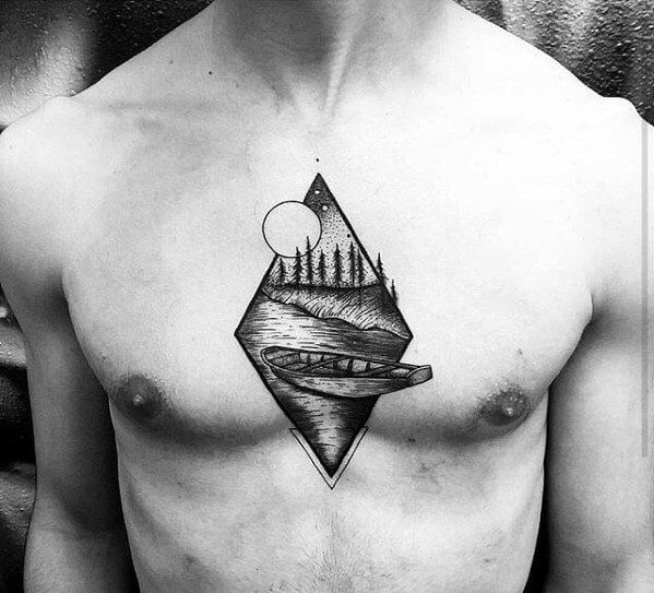 simple chest tattoos for guys-26