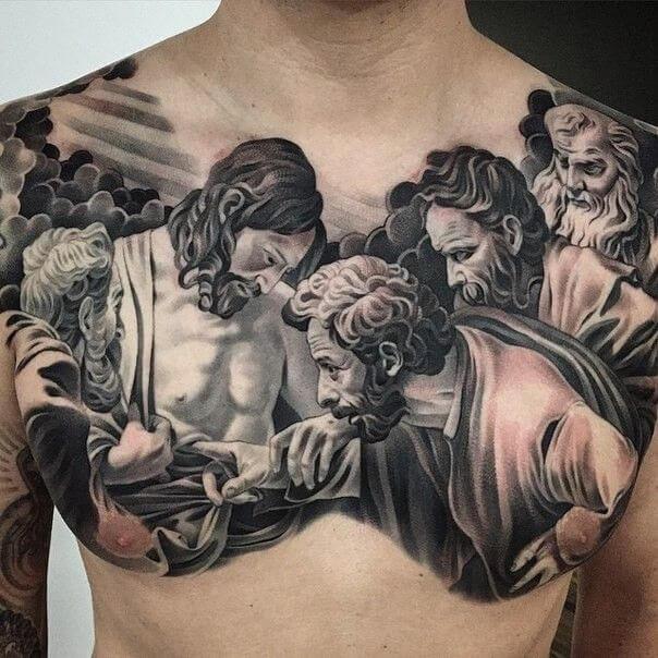 best chest tattoos for men 2021-6