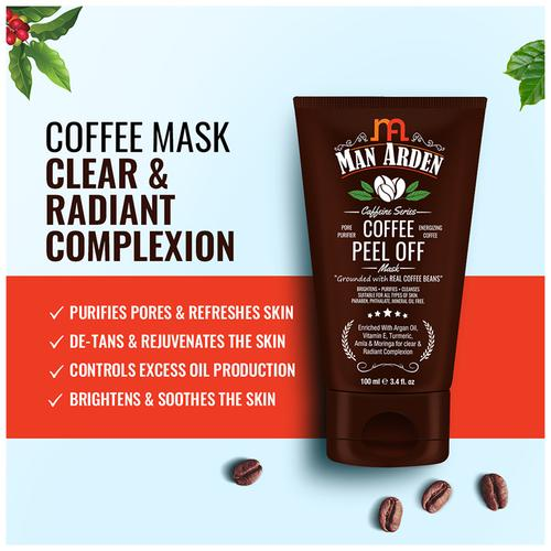 Caffeine Coffee Peel Off Mask, Man Arden