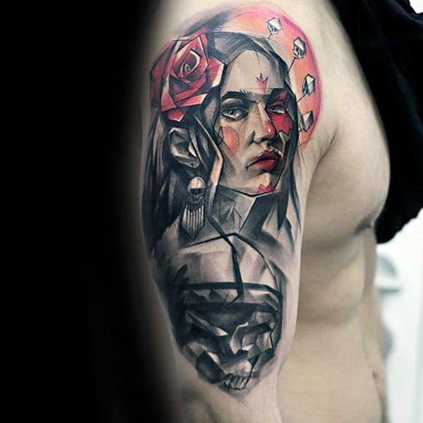 portrait half sleeve tattoo designs