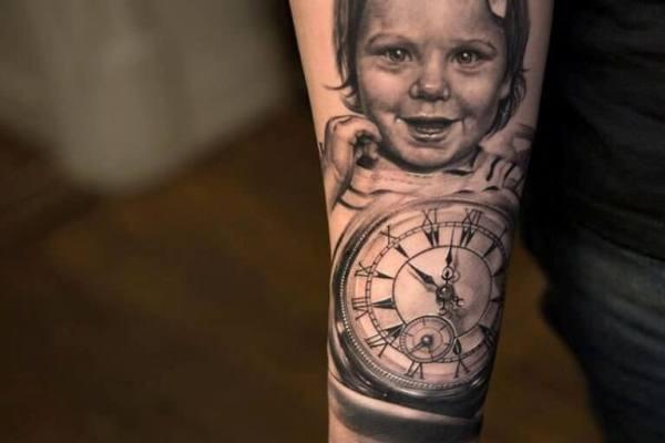 forearm portrait tattoo designs