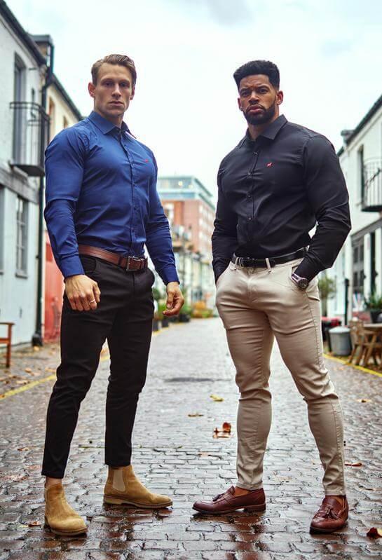 office wear for muscular men