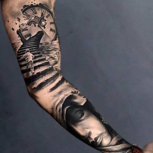 inner forearm tattoos for guys