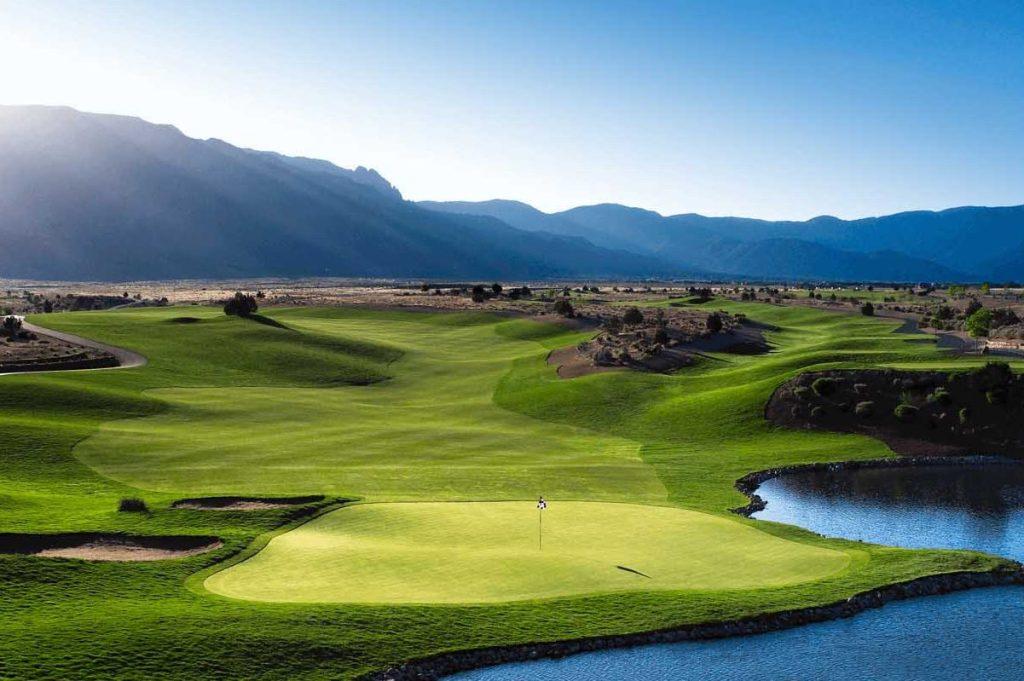 No 18 at Sandia Golf Club