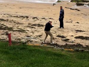 Paul Monahan on beach at N Berwick