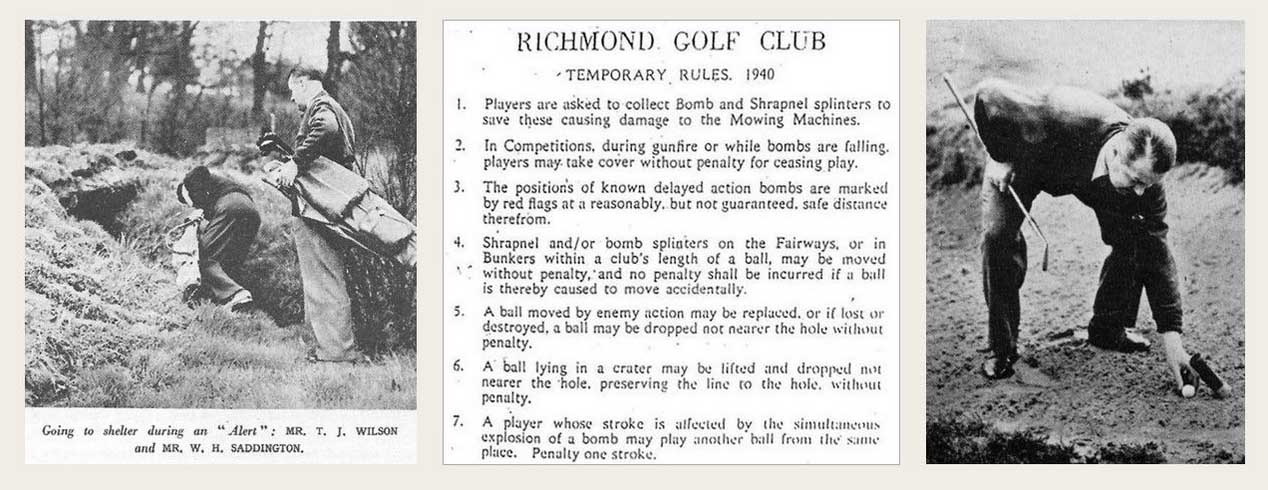 Rules of Golf During the 1940 London Blitz