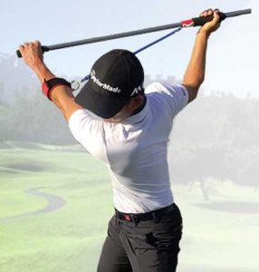 Man using MISIG golf training aid