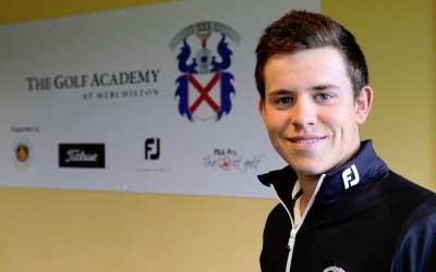 Calum Hill at Merchiston Golf Academy in Edinburgh