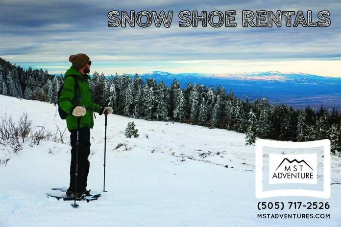 Snowshoeing Sandia Crest