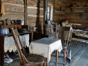 Interior of Billy the Kid's childhood home