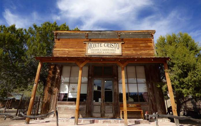 Monte Cristo saloon and dance hall in Chloride New Mexico