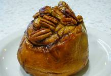 Cornerstone Bakery pecan cinnamon roll