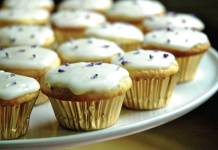 Lavender lemon cupcake