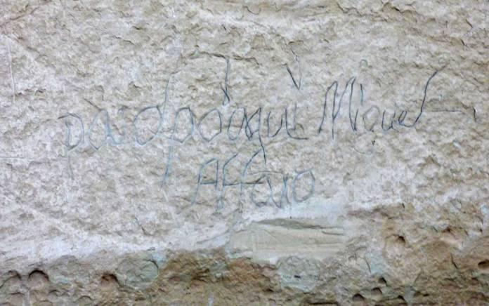 El Morro Spanish inscription