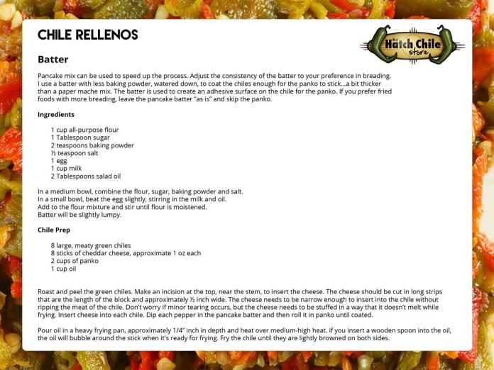 Chile Rellenos Recipe