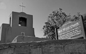 San Miguel Santa Fe black and white