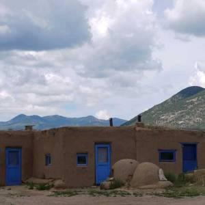 Blue doors at Taos Pueblo