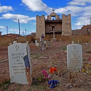 Zuni mission cemetery