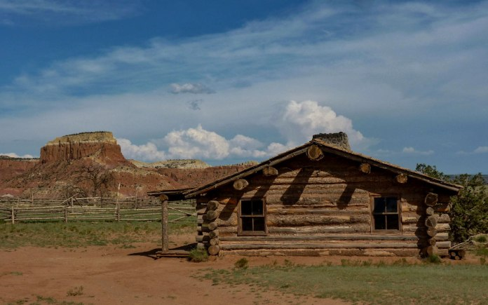 Cabin from City Slickers movie at Ghost Ranch