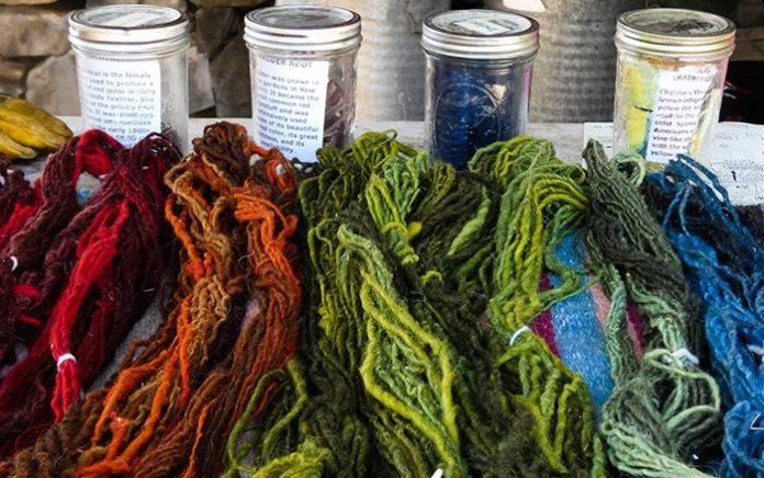 El Rancho de las Golondrinas dying yarn