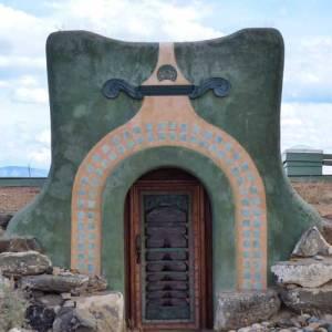 Earthship entryway