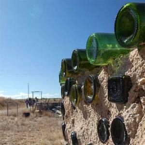 Taos Earthship bottle wall