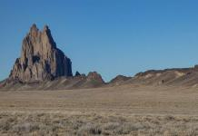 Shiprock and lava dike