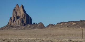 Shiprock and lava dike