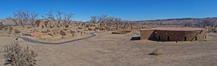 Panorama of Aztec Ruins