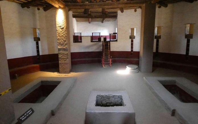 Aztec Ruins inside the restored great kiva