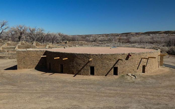 Aztec Ruins restored great kivas