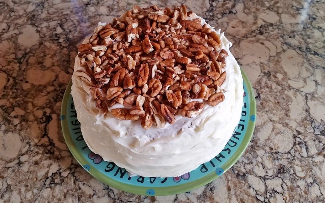 carrot cake top down