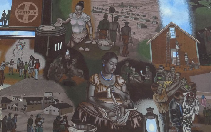 Gallup history mural