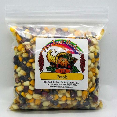 1-pound bag of multi-colored corn posole