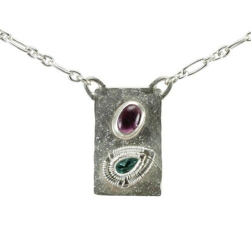 Jack Boglioli textured apatite pendant