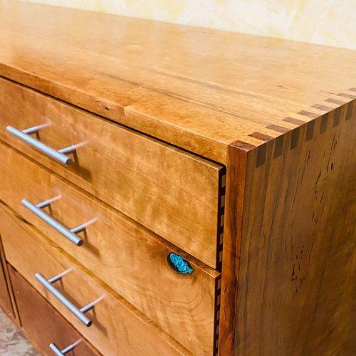 Wesley Janecka cherry wood dresser