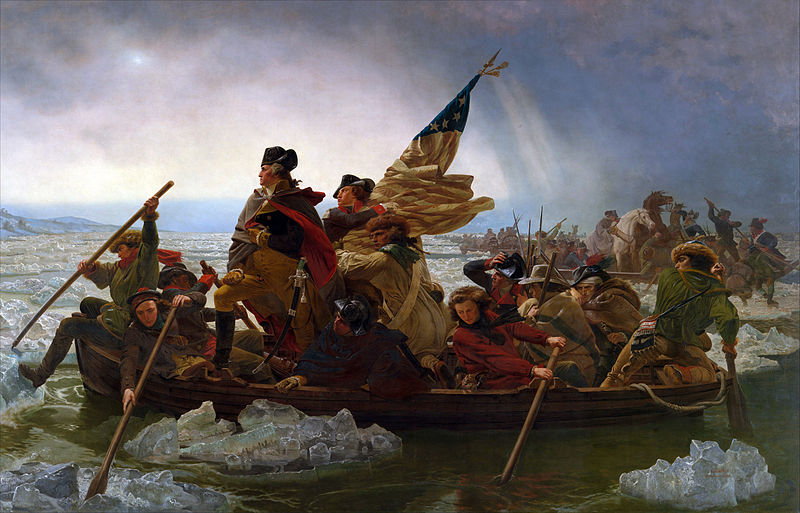 Washington Crossing the Delaware by Emanuel Gottlieb Leutze, 1851
