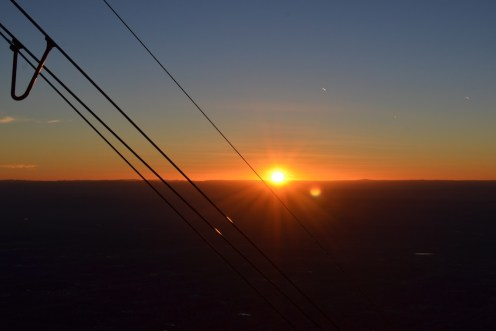 Sunset from a very cold and very, very windy 10,378 feet.
